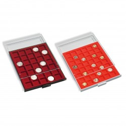 Coin boxes with square compartments - from 19 to 270 mm - Outside format 236 x 303 x 20 mm