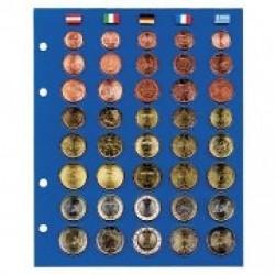 """FEUILLE """"TOPSET"""" POUR SERIES D'EUROS SANS CAPSULES ANDORRE LETTONIE LITUANIE- REF 7817-5/SAFE"""