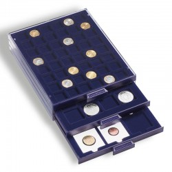 COIN BOXES SMART SQUARE COMPARTMENTS FROM 24 TO 50 mm - OVERALL SIZE 195 X 250 X 19 mm