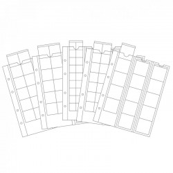 Set of 5 OPTIMA sheets for coins - OPTIMA 20 to 65