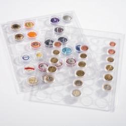 Lot de 2 feuilles ENCAP pour pièces et muselets en capsule (ronde, Quadrum et Slabs)