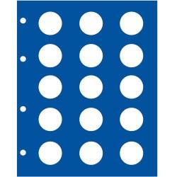 """FEUILLE """"TOPSET"""" POUR 15 PIECES DE 2 EUROS SANS CAPSULES - REF 7854/SAFE"""