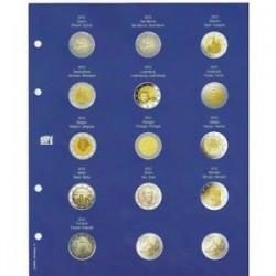 """FEUILLE """"TOPSET"""" POUR LES 2 EUROS 2012 SOUS CAPSULES 1ERE PARTIE - REF 7302-10/SAFE"""