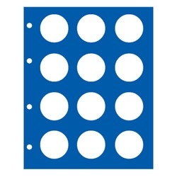 """FEUILLE NEUTRE """"TOPSET"""" POUR 12 PIECES DE 10 EUROS ALLEMANDES SOUS CAPSULES - REF 7850/SAFE"""