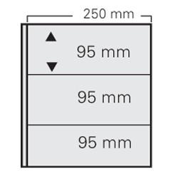 """5 FEUILLES 3 POCHES FORMAT 250 X 95 MM POUR ALBUM """"FAVORITE"""" - REF 7353/SAFE"""