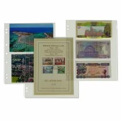 Feuilles / recharges numismatiques NUMIS (Billets, cartes postales ou série BU)