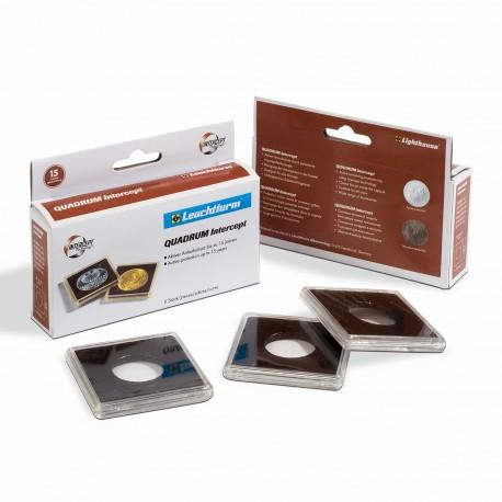 BOX OF 6 COIN CAPSULES QUADRUM INTERCEPT (14 to 41 mm)