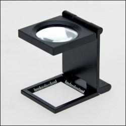 LOUPE DE PRECISION EN METAL COMPTE-FILS X 10 - REF 4633/SAFE