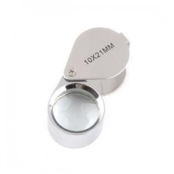 LOUPE DE PRECISION EN METAL GROSSISSEMENT X 10 - REF 9548/SAFE