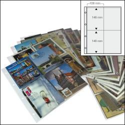15 FEUILLES 4 POCHES POUR ALBUM CARTES POSTALES 7920/SAFE - REF 5471/SAFE