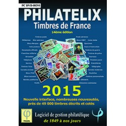 PHILATELIX - TIMBRES DE FRANCE DE 1849 A 2014 - DVD-ROM - REF 1761/15/SAFE