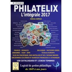 PHILATELIX 2017 L'INTEGRALE - TIMBRES FRANCAIS ET ETRANGERS - DVD-ROM - REF 1761/17/SAFE