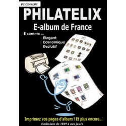 PHILATELIX - E-ALBUM DE FRANCE - CD-ROM - REF 1749/SAFE