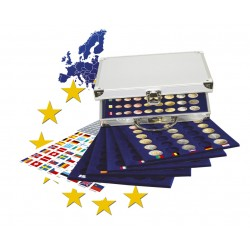 Mallette en aluminium pour séries d'euros