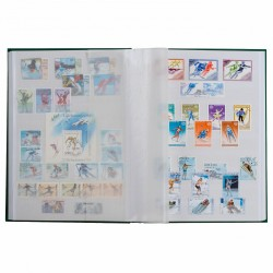 Classeurs pour timbres BASIC A4 pages blanches