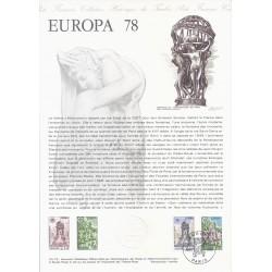 75 - PARIS - TIMBRES 1.00 ET 1.50 FRANCS - 06/05/1978 - EUROPA 78