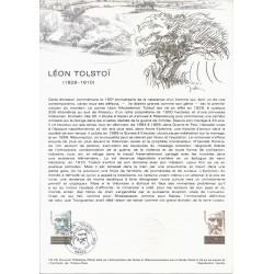 75 - PARIS - TIMBRES 1.00 FRANC - 15/04/1978 - LEON TOLSTOI (1828-1910)