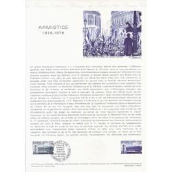 02 - LA FLAMENGRIE - 60 - COMPIEGNE - TIMBRE 1.20 FRANC - 11/11/1978 - ARMISTICE 1918-1978