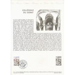 87 - LE DORAT - TIMBRE 1.45 FRANC - 16/07/1977 - COLLEGIALE DU DORAT