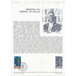 52 - COLOMBEY LES DEUX EGLISES - 75 PARIS - TIMBRE 1 FRANC - 18/06/1977 - MEMORIAL DU GENERAL DE GAULLE