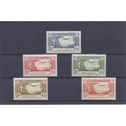 DAHOMEY - 1940 - LOT DE 5 TIMBRES - POSTE AERIENNE