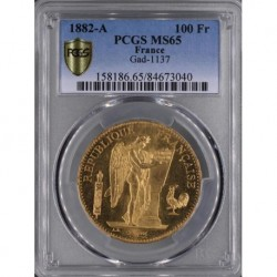 FRANCE - KM 832 - 100 FRANCS 1882 A - PCGS MS 65