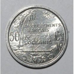 OCEANIE FRANCAISE - KM 1 - 50 CENTIMES 1949 - UNION FRANCAISE
