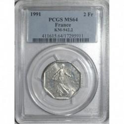 GADOURY 547 - 2 FRANCS 1991 TYPE SEMEUSE - SPL MS 64 - KM 942
