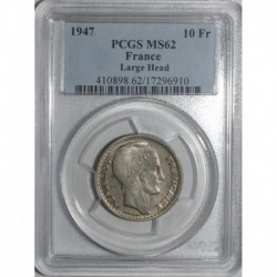 GADOURY 810a - 10 FRANCS 1947 TYPE TURIN RAMEAUX COURTS - SUP MS 62 - KM 908.1