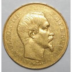 GADOURY 1111 - 50 FRANCS 1856 A - OR - NAPOLEON III - TETE NUE - TTB +
