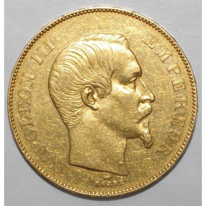 Gad 1111 - 50 FRANCS 1856 A - OR - NAPOLEON III - TETE NUE - TTB +
