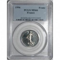FRANKREICH - KM 925.1 - 1 FRANC 1996 TYP SÄMANN - PCGS MS 66