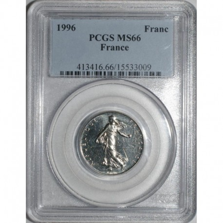 GADOURY 474 - 1 FRANC 1996 TYPE SEMEUSE - FDC PCGS MS 66 - KM 925.1