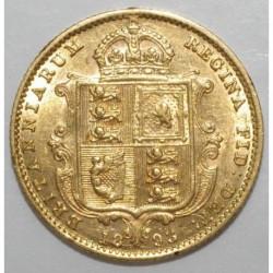 GREAT BRITAIN - KM 766 - 1/2 SOUVERAIN 1893 - OR - TTB à SUP