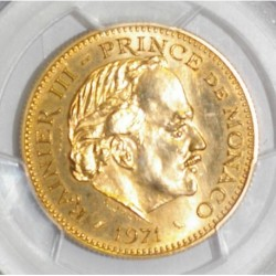 MONACO - 5 FRANCS 1971 - OR - FDC 66 - Gradé PCGS SP66