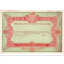 62100 - ST PIERRE LES CALAIS - BON DE CIRCULATION 08.10.1870 - SUP