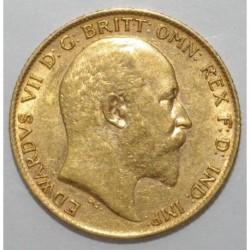 GREAT BRITAIN - KM 804 - EDWARD VII - 1/2 SOUVERAIN OR 1909 - TTB