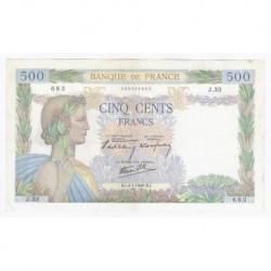 FAY 32/01 - 500 FRANCS LA PAIX - 04/01/1940 - TRES TRES BEAU à SUPERBE - PICK 95