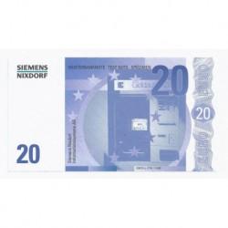 SIEMENS NIXDORF - 20 EUROS - SPECIMEN - NEUF