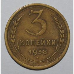 RUSSIA - Y 107 - 3 KOPEKS 1938