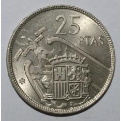 SPAIN - 25 PESETAS 1957/65 - FLEUR DE COIN