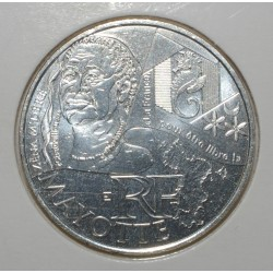EUROS DES REGIONS - 10 EURO MAYOTTE 2012 - ARGENT - PIECE DE CIRCULATION.