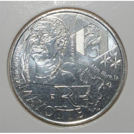 EUROS DES REGIONS - 10 EURO MAYOTTE 2012 - ARGENT - PIECE DE CIRCULATION.