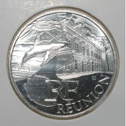 EUROS DES REGIONS - 10 EURO REUNION 2011 - ARGENT - PIECE DE CIRCULATION.