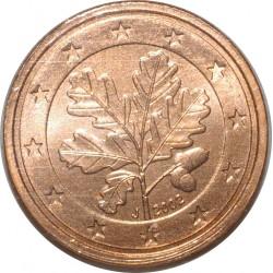 ALLEMAGNE - 2 CENT 2002 J - RAMEAU DE CHENE - SUPERBE A FLEUR DE COIN