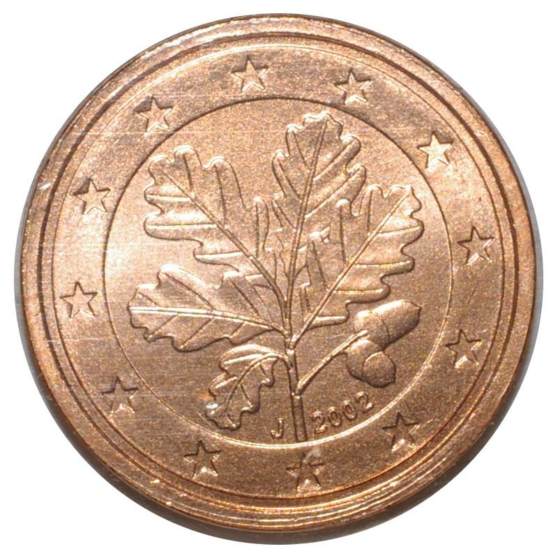 Allemagne 2 Cent 2002 J Rameau De Chene Superbe A Fleur De Coin