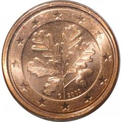 ALLEMAGNE - 2 CENT 2003 G - RAMEAU DE CHENE - SUPERBE A FLEUR DE COIN