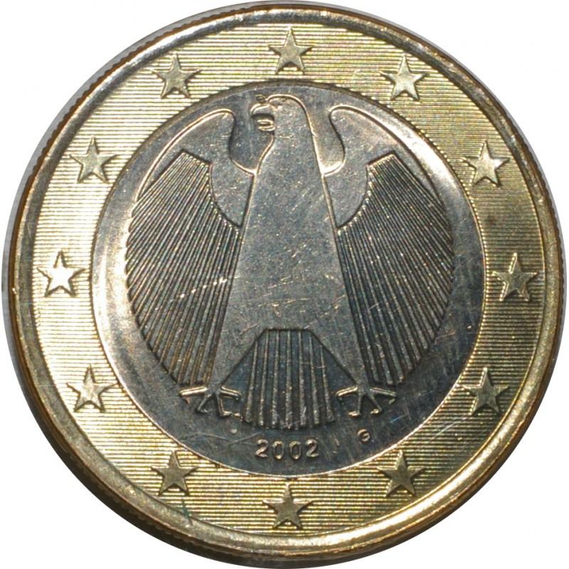 Allemagne 1 Euro 2002 G Fleur De Coin Unc