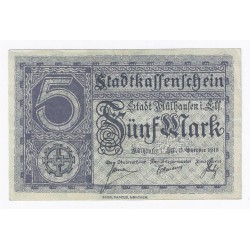 68100 - MULHOUSE (MULHAUSEN) - 5 MARK 15/10/1918 - SUP