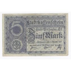 68100 - MULHOUSE (MULHAUSEN) - 5 MARK 15/10/1918 - TTB+